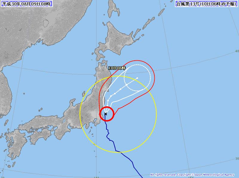 台風状況天気図