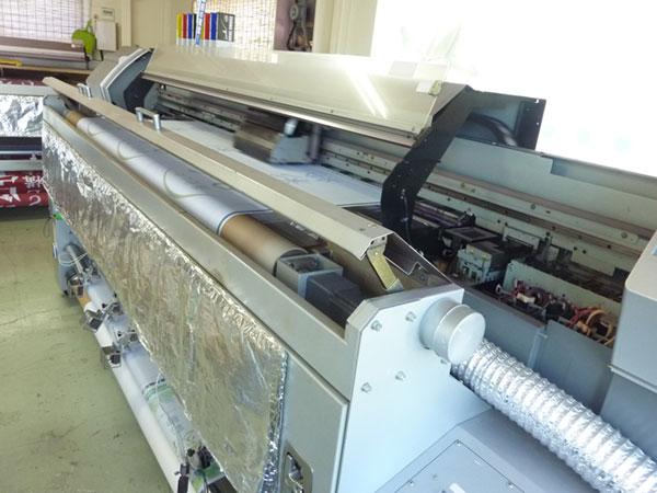 のぼりを印刷する機械