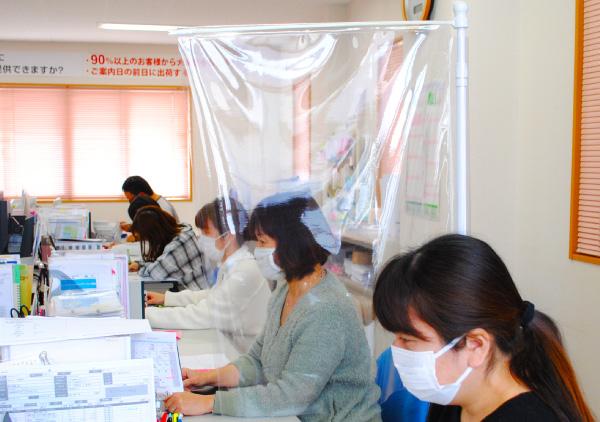 飛沫感染防止オフィスパーテーション